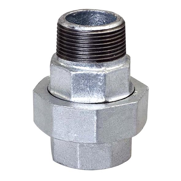 341 Union, M&F, conical joint, iron to iron seat
